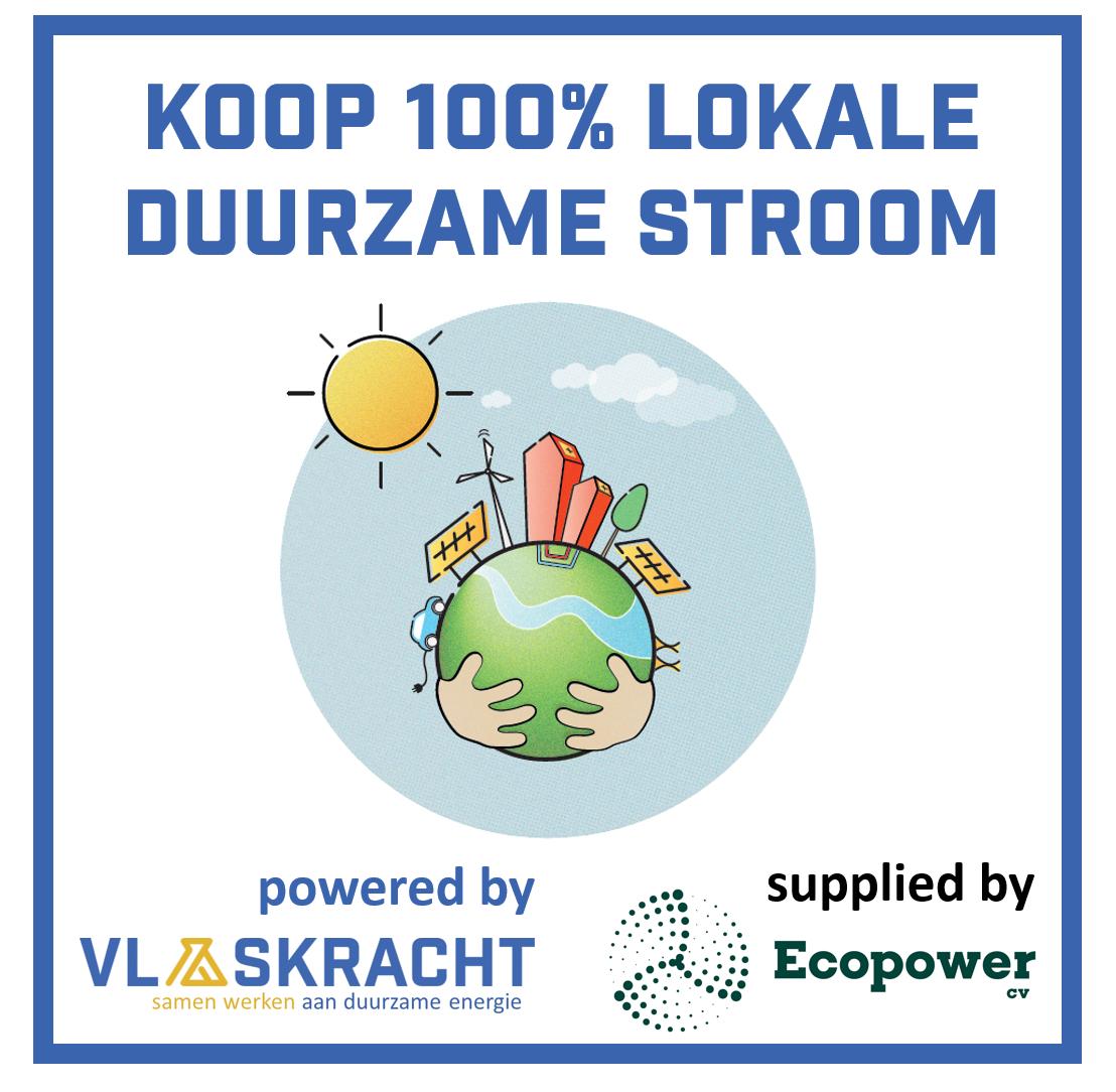 100% lokale duurzame stroom van Vlaskracht